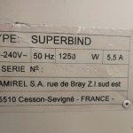 Ragasztó gép Lamirel Superbind